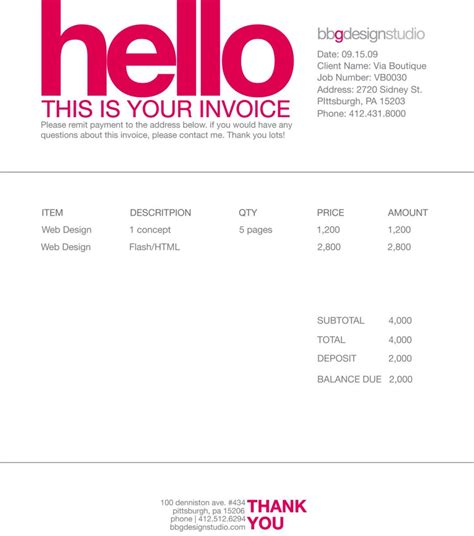 Contoh Faktur Invoice Tagihan Dengan Desain Menarik 23 Free Download Illustration Invoice Template