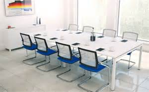 White Meeting Table Furniture Luxurious White Modern Conference Table For Contemporary Office Interior Design