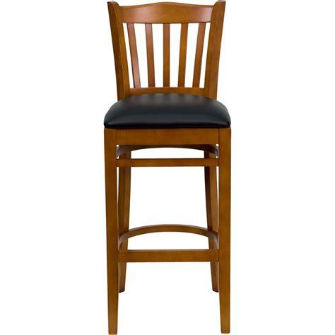 restaurant quality bar stools wood vertical slat barstool