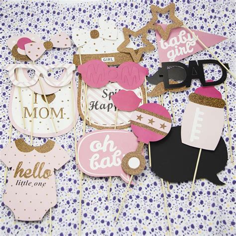 pcs baby shower photo booth props  lady girl