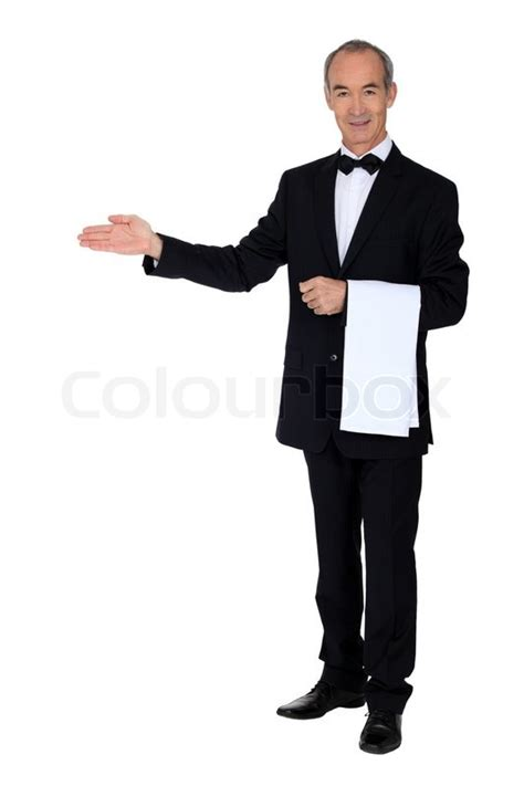 professional waiter stock photo colourbox