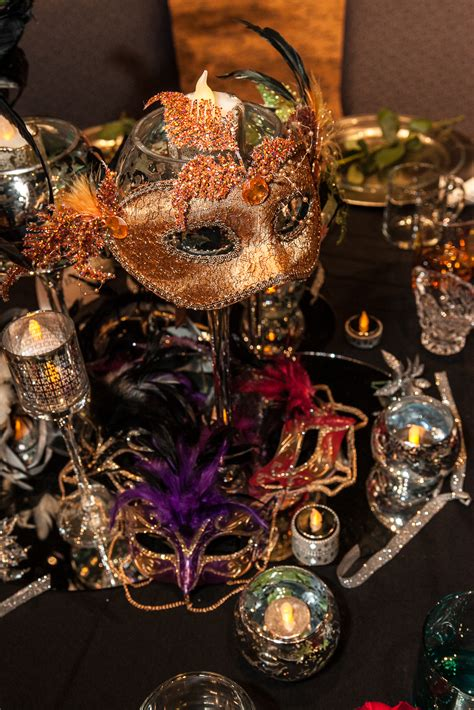 glasses decor ideas pinterest masquerades table