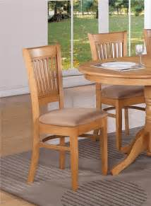 Kitchen Dining Furniture Set Of 4 Kitchen Dining Chairs With Microfiber Cushion Seat In Oak Finished