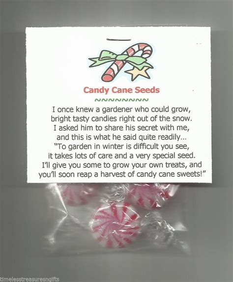 new candy cane seeds novelty gag gift stocking stuffer