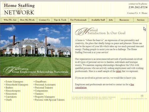 home staffing network via the butler bureau