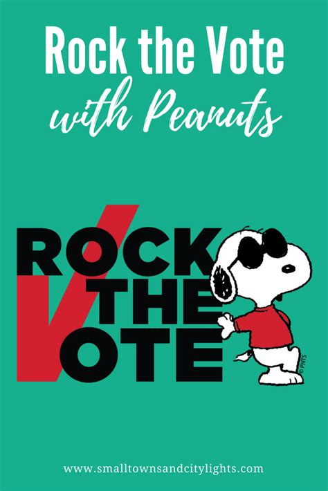 rock fan vote rock the vote with peanuts giveaway small towns city