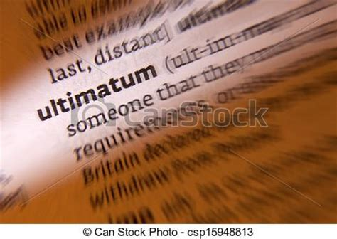 bourne ultimatum meaning stock photography of ultimatum dictionary definition