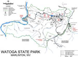Pocahontas State Park Map by Watoga State Park Maplets