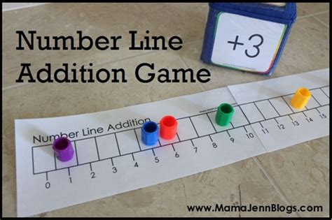 Printable Number Line Math Games   number names worksheets 187 teaching subtraction in