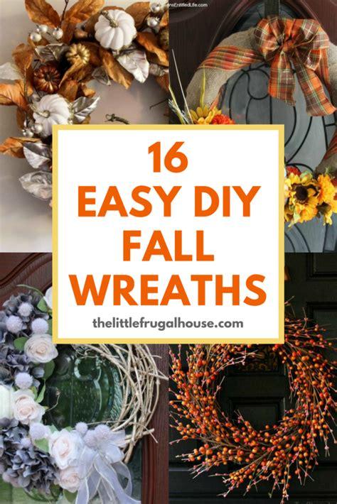 easy diy fall wreaths   front door