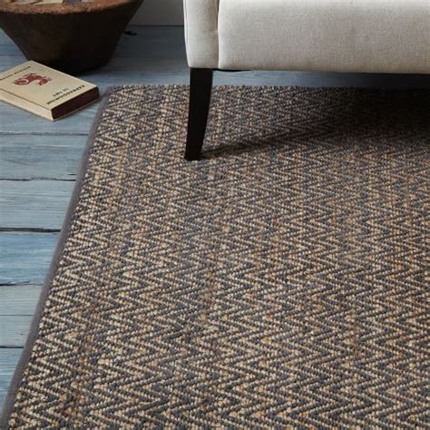 How To Make A Chenille Rug by Jute Chenille Herringbone Rug Slate West Elm