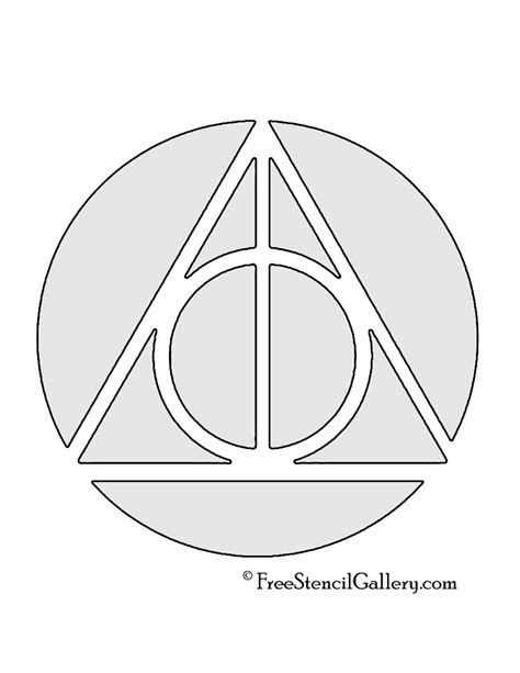 printable harry potter pumpkin stencils harry potter deathly hallows symbol free stencil gallery