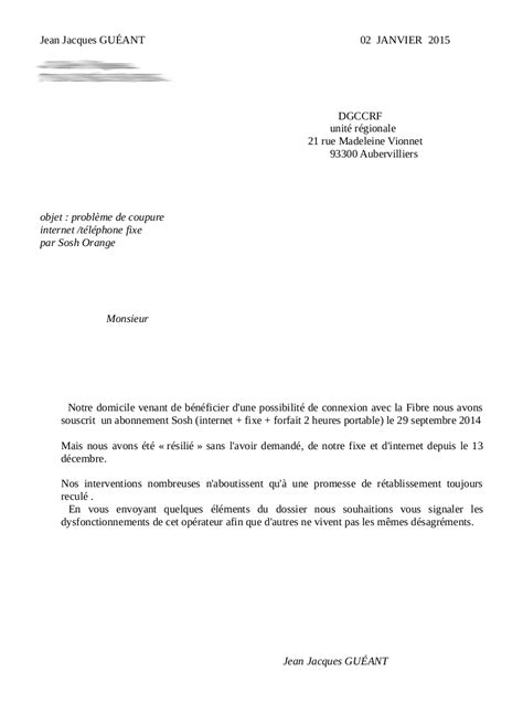 Lettre De Contestation Orange Mobile modele resiliation sosh document