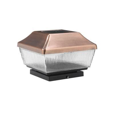 solar fence post lights home depot hton bay solar copper outdoor led post light 2 pack qtp22a r4 ac 2 the home depot