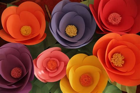 How To Make Big Flowers Out Of Paper - diy paper flowers