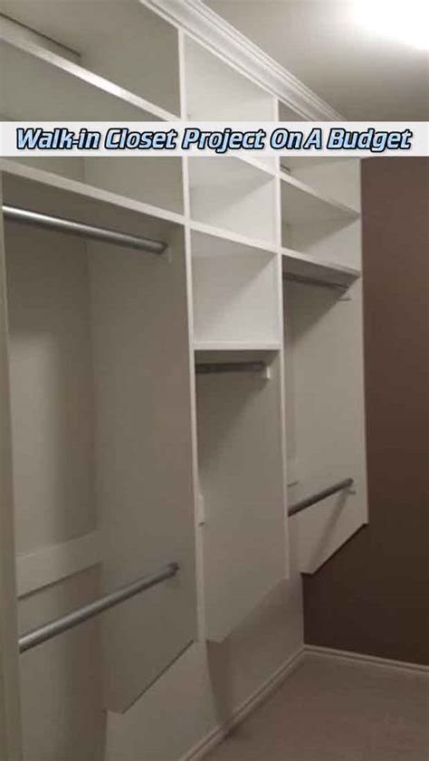 walk in closet project on a budget