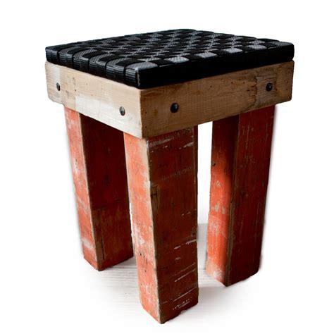 steigerhout salontafel antwerpen krukje van sloophout en reststukken spanbanden zelf