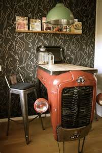 Kitchen Desk Turned Bar Tractor Turned Into A Kitchen Bar