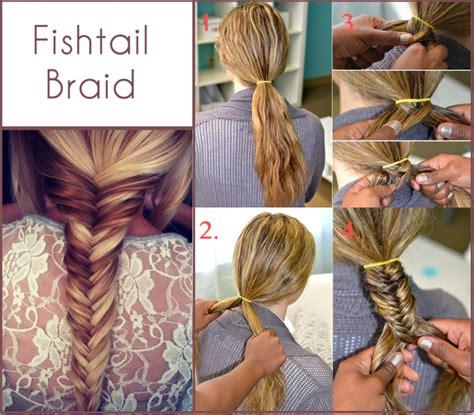step by stepahort brais hair fashion tips fishtail braid