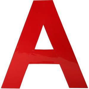Red Home Accessories Decor by Fab X Red Enamel Letter A Red Polyvore