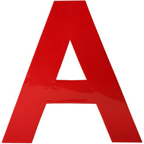 Home Decor Items In India by Fab X Red Enamel Letter A Red Polyvore