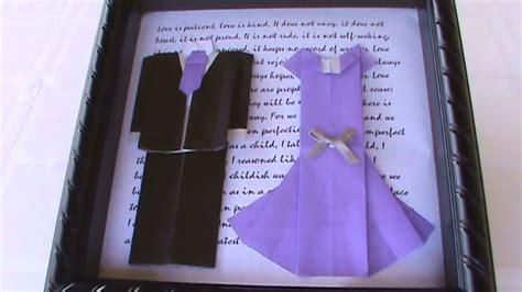 Origami Shadowbox  Ee  Wedding Ee   Tuxedo Dress  Ee  Youtube Ee