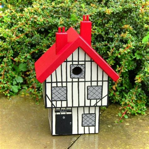 Handmade Bird Houses - handmade tudor house bird box birdhouses