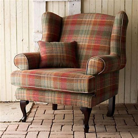 tartan wingback chair fireside wingback