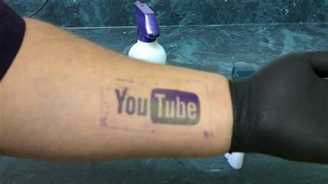 tattoo youtube stencil how to apply with deodorant