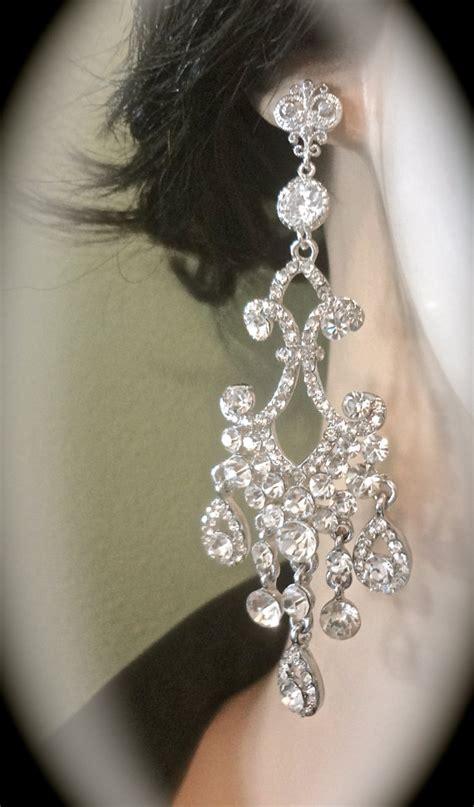 Chandelier Rhinestone Earrings Chandelier Earrings 4 Rhinestone By Queenmejewelryllc