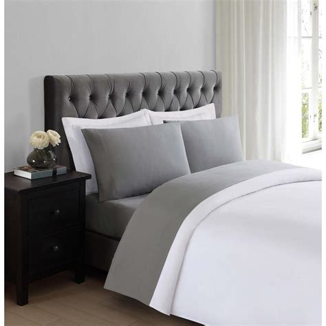 soft bed sheets truly soft everyday grey twin sheet set ss1658gytw 4700