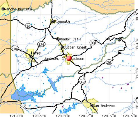 jackson california map map of jackson california california map