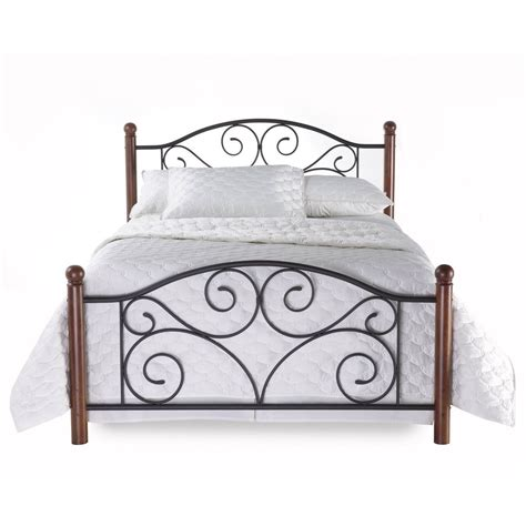 Bed Frames And Headboards King Size New King Size Metal Wood Mattress Bed Frame Headboard Footboard Brown Ebay