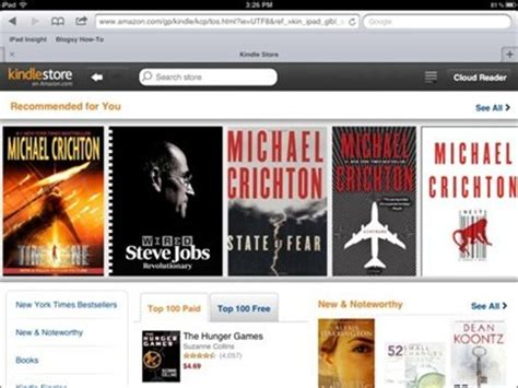amazon kindle store amazon s kindle store for ipad is now a web app ipad insight