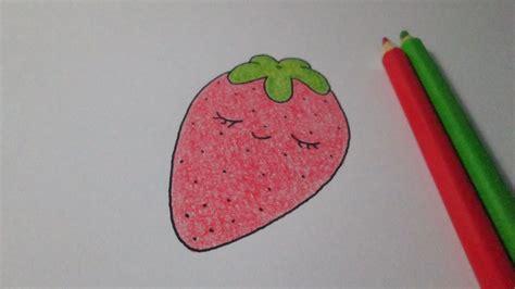 imagenes de fresas kawaii como desenhar um morango kawaii youtube
