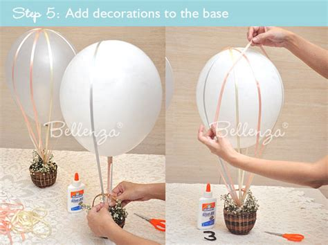 hot air balloon centerpiece table number tutorial hot