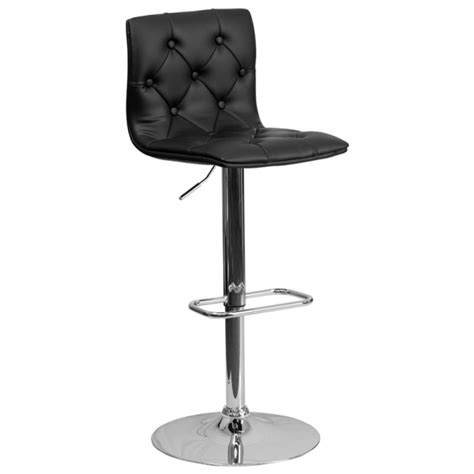 chrome bar stools with back black diamond back upholstered chrome bar stool