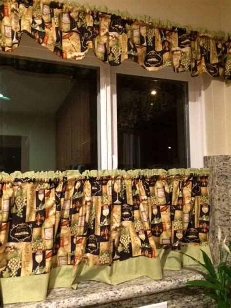 kitchen cafe curtains wine theme eat in kitchen