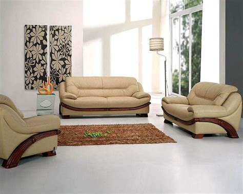 contemporary leather sofa set 44l870