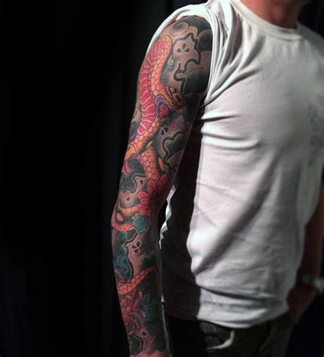 snake arm tattoo designs 80 japanese snake design for cool ink ideas