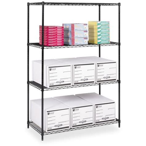 safco 5294bl industrial wire shelving 48 quot x 24 quot x 72