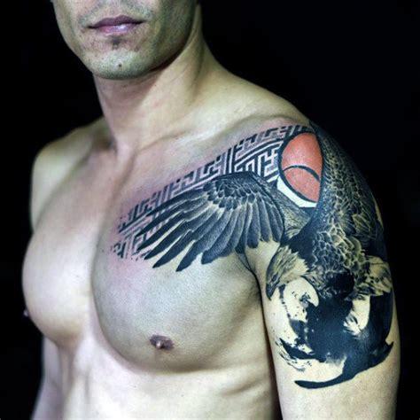 bald eagle tattoo on shoulder 80 artistic tattoos for men a dose of creative ink