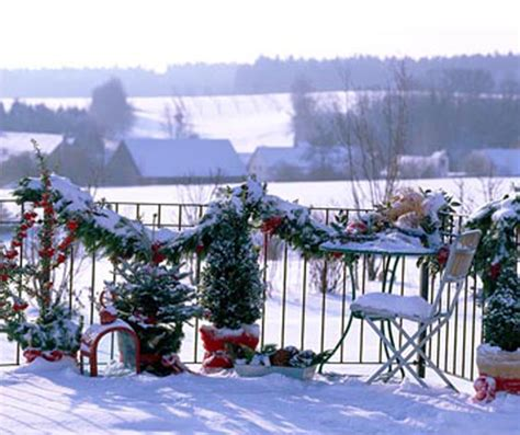 How To Decorate A Small House 16 cozy and inspiring christmas balcony decor ideas