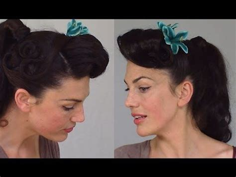 practical and easy care hairstyles for women in their forties pin up ponytail easy practical vintage hairstyle