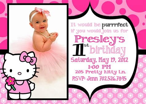 birthday invitation card template hello hello 1st birthday invitations