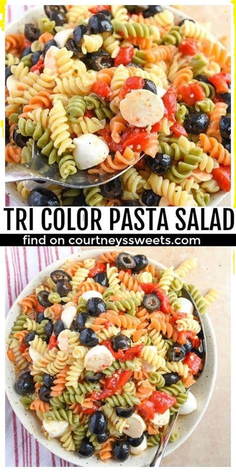 tri color pasta recipe tri color pasta salad recipe reni s kitchen