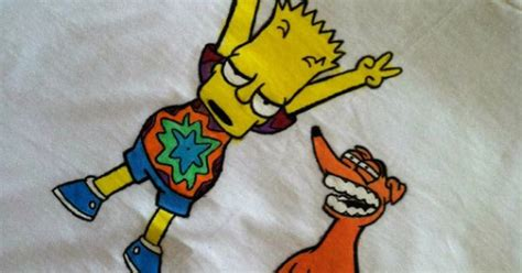 pin by daime on pinterest bart trippy bart simpson shirt by currentlycoy on etsy