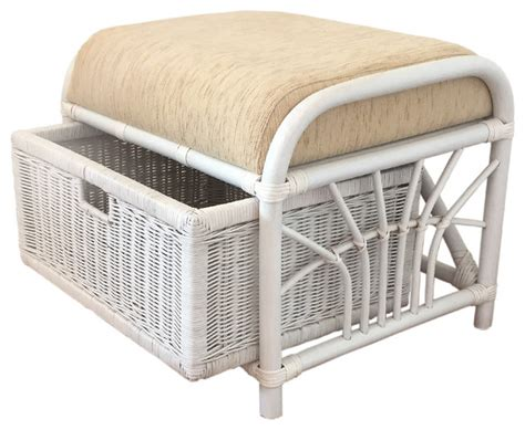 rattan ottoman storage jerry tropical footstools