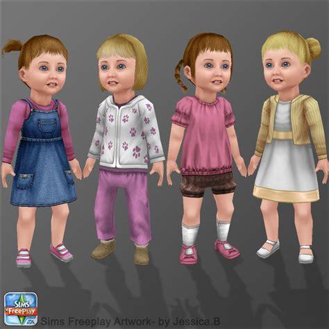 3d preschool girls sims freeplay toddler girls by nef jessb on deviantart
