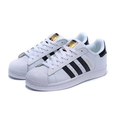 adidas originals superstar white black gold sneakers